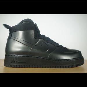 Men's Nike Air Force 1 Foamposite Cup Triple Black